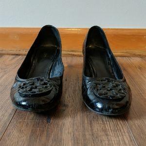 Tory Burch Pumps Black Alligator Leather Shoes